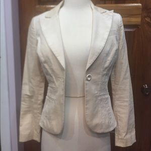 Bebe Suede Like Blazer with Pintuck Details
